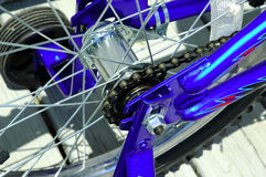 Bike Chain. Photo of a Bike Chain and SPokes Royalty Free Stock Images