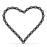 Bike chain heart Stock Image