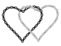 Bike chain heart Stock Images