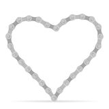 Bike chain heart Stock Photo
