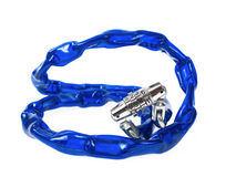 Bike chain lock Stock Photos