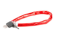 Bike chain lock isolated on white background Royalty Free Stock Image