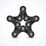 Bike chain star Stock Photo
