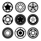 Bike Chainring Set Stock Photo