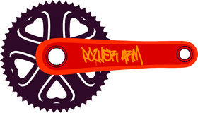 Bike chainring Royalty Free Stock Photography