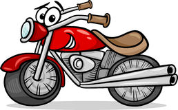 Bike or chopper cartoon illustration Royalty Free Stock Photography