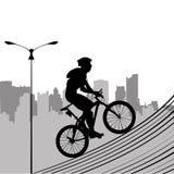 Bike and city royalty free illustration
