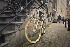 A bike in the city of Amsterdam Stock Photography