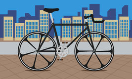 Bike on City Royalty Free Stock Photo