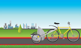 Bike and city Royalty Free Stock Image