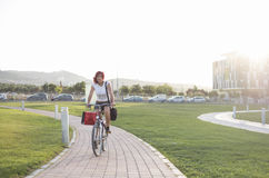 Bike city and park Royalty Free Stock Image