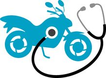 Bike clinic. Isolated line art work vector illustration