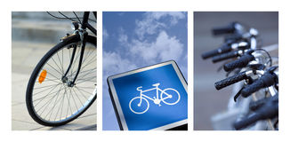 Bike collage stock photography