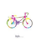 Bike of the colored segments Stock Images