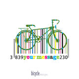 Bike of the colored stripes barcode Stock Images