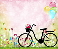Bike03. Colorful bike for four seasons Royalty Free Stock Photography
