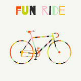 Bike in colorful stripes Royalty Free Stock Photography