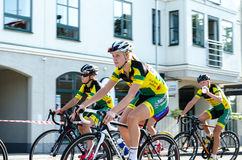 Bike competition. In Vellinge Sweden 2014. 1-3 august Stock Photo