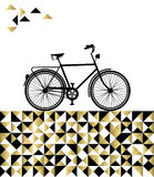 Bike concept with hipster gold background Royalty Free Stock Images