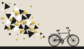 Bike concept with hipster gold geometry design Stock Photography