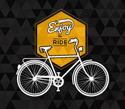 Bike concept poster bicycle low poly background Stock Photo