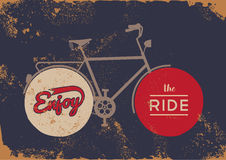 Bike concept vintage bicycle concept grunge poster Stock Images