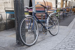 Bike in Coppinger Row Street in Dublin Royalty Free Stock Images