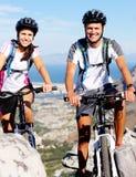 Bike couple Stock Image