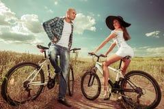 Bike Couple Stock Images
