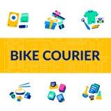 Bike Courier. Bicycle lifestyle. Biking Service. royalty free illustration