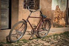 Bike on Cuban streets Stock Photo