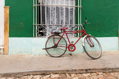 Bike on Cuban streets Royalty Free Stock Images