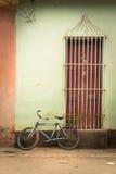 Bike on Cuban streets Stock Photos