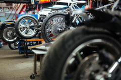 Bike Customs Workshop Royalty Free Stock Photos
