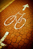 bike/cycling lane in a city Royalty Free Stock Image