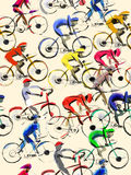 Bike cycling rice seamless background Stock Photo