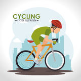 Bike and cyclism graphic design Royalty Free Stock Image