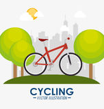Bike and cyclism graphic design Stock Images