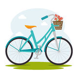 Bike and cyclism graphic design Royalty Free Stock Photography