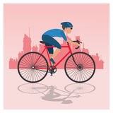 bike and cyclist icons image Stock Photo