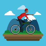 bike and cyclist icons image Royalty Free Stock Images