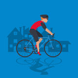 bike and cyclist icons image Royalty Free Stock Photo