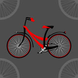 Bike 2D. Black and red color. Vector format Stock Images