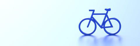 Bike 3d rendering Royalty Free Stock Image