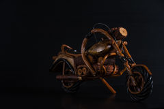 Bike in dark on black Stock Photography