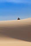 Bike in desert Stock Image