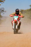 Bike desert race Royalty Free Stock Photo