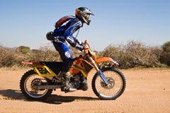 Bike desert race. Bike riders in the Botswana Kalahari Desert Race 1000, sport series royalty free stock image