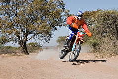 Bike desert race Stock Photo