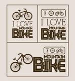 Bike design. Over beige background, vector illustration Stock Images